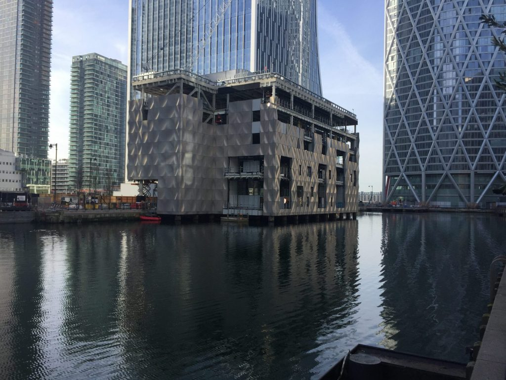 Quay Club curtain walling install R F Fixing